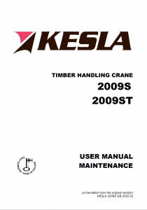 kesla KESLA – Hidrauliniai manipuliatoriai / Kranai 2009S 210x300