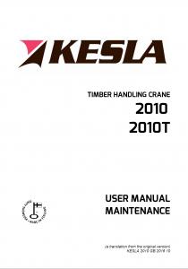 kesla KESLA – Hidrauliniai manipuliatoriai / Kranai 2010 210x300